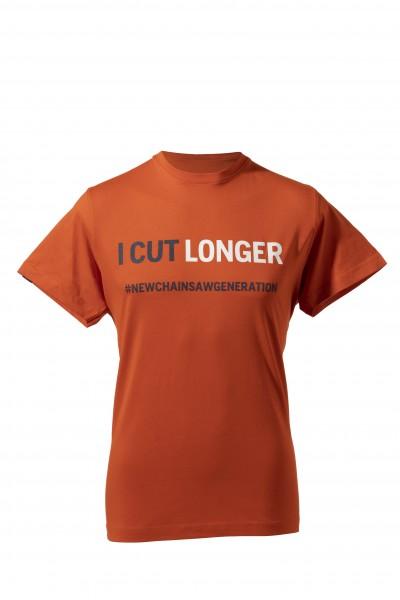 T-SHIRT I CUT LONGER UNISEX orange