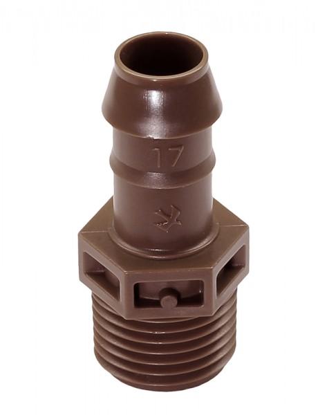 """Kupplung 17 mm X 1/2"""" AG (VE 25)"""
