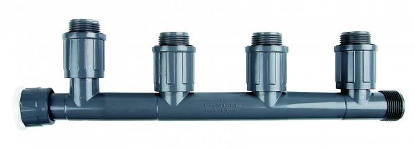 PVC-Verteiler mit 4 Ausgängen