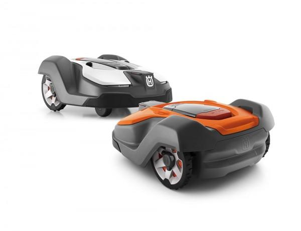 Wechselcover Automower 450X in weiss und orange