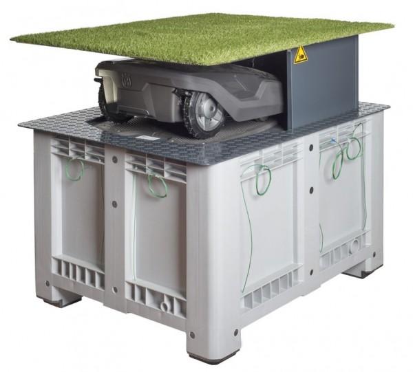 versenkbare garage f r m hroboter maxi ideal f r ihren husqvarna automower. Black Bedroom Furniture Sets. Home Design Ideas