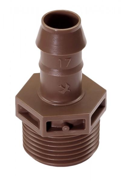 """Kupplung 17 mm X 3/4"""" AG (VE 25)"""